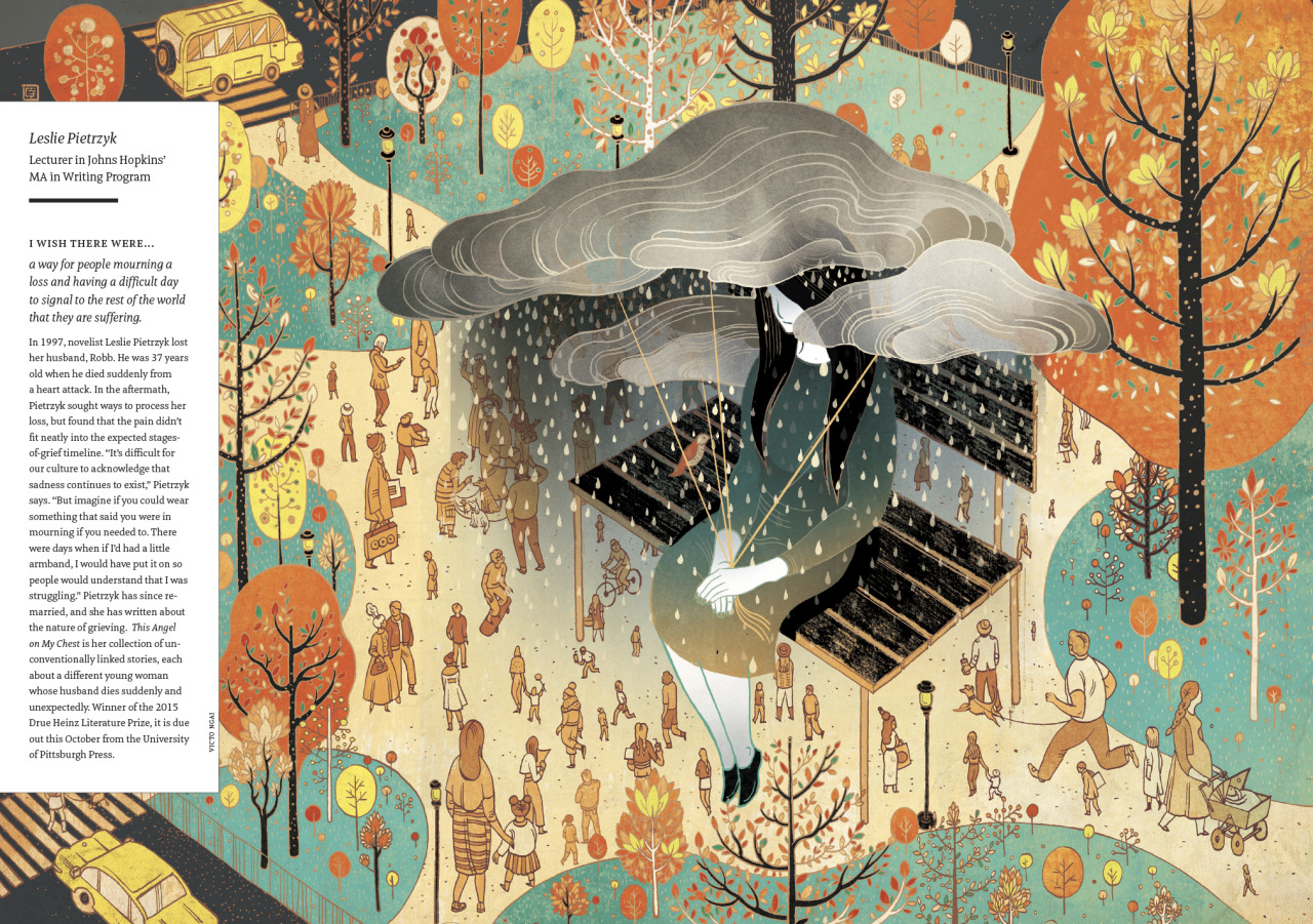 Anxiety and Mourning illustration by Victo Ngai