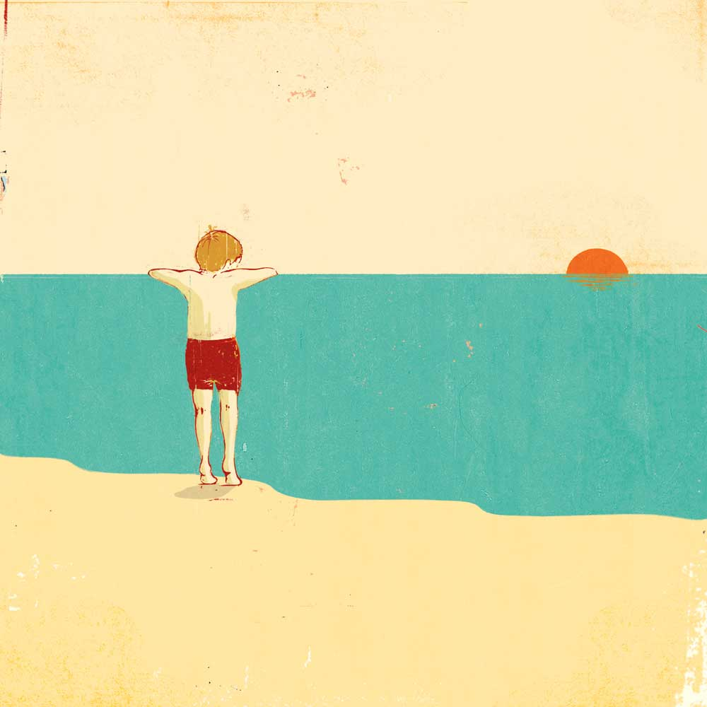 CG-summer-sunset-beach-ocean-vacation-boy-conceptual-fantasy-view